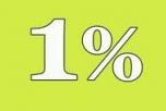 1 % adó